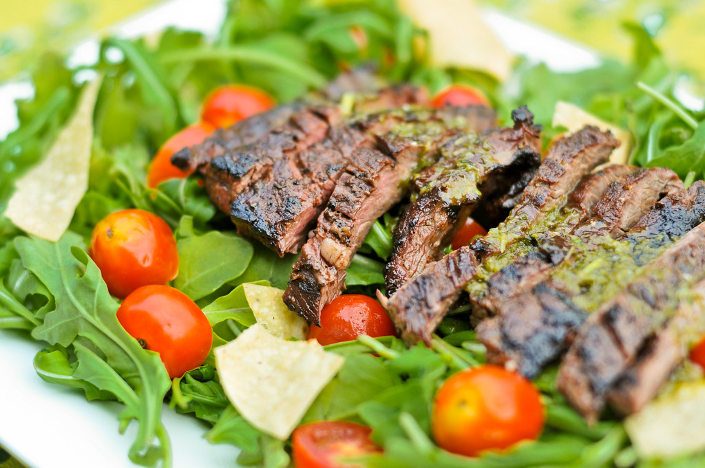 Skirt Steak Salad with Cilantro-Lime Dressing