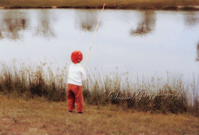 Vintage little girl fishing with bamboo pole flickr for Little girl fishing pole