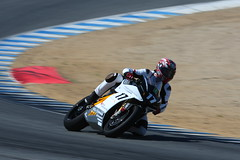 Steve Rapp on the Mission R - Turn 5 - Laguna Seca - June 26 2011