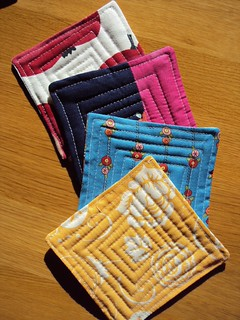 Quilted Fabric Coasters (side 2)