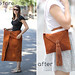 giant suede skirt to envelope purse.