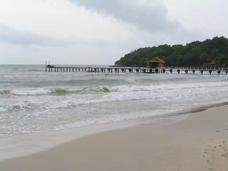 Serendipity Beach Sihanoukville yakın görüntü. cambodia sihanoukville