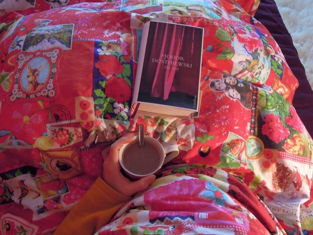 Hot chocolate in bed