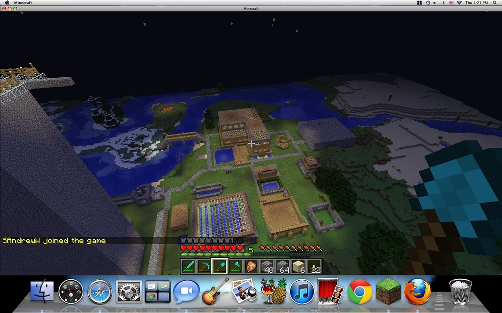 Night time on the Darien Minecraft server