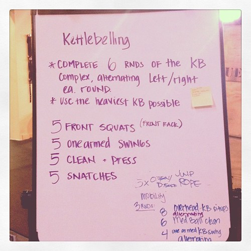 #kettlebell fun this morning. #wod