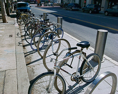 On-street bicycle parking