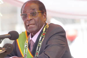 Republic of Zimbabwe President Robert Mugabe speaking at the national independence ceremony on April 18, 2012. The country gained freedom from Britain in 1980. by Pan-African News Wire File Photos