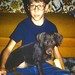 Small photo of A boy and his dog.