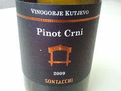Thumbnail image for Every decent Croatian bar should have Sontacchi's Pinot Noir