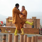 Shaolin India Meihua Poles Training Shifu Kanishka and Shifu Shi Hengjun