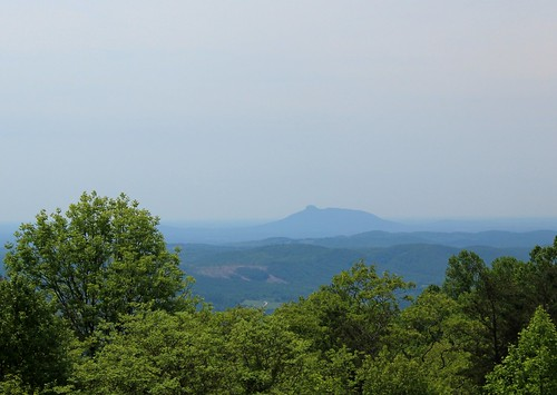 Pilot Mountain From The BRP by waterfallshiker