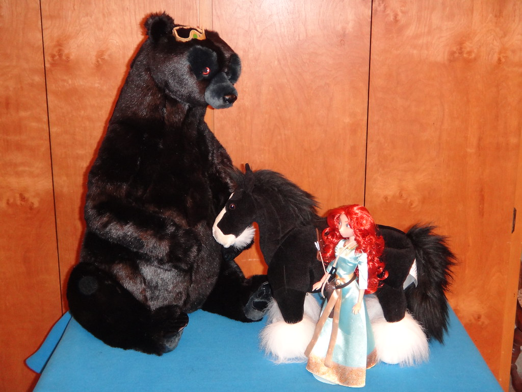 brave angus and merida doll set - mama bear, angus and merida - view