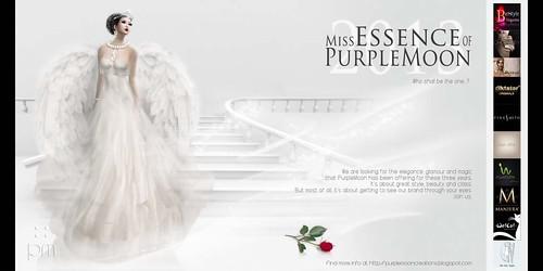 Miss Essence of PurpleMoon 2013 - Flyer by Cherokeeh Asteria