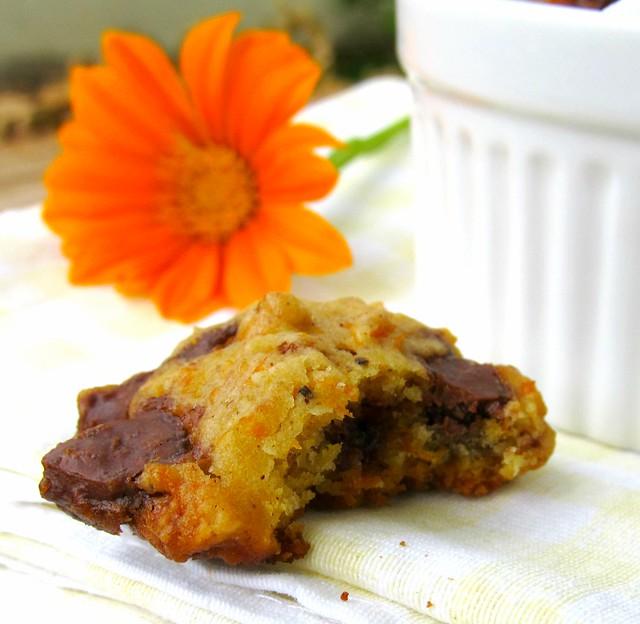 Cookies de abobora e chocolate