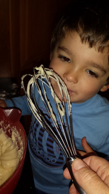 His first time licking the whisk