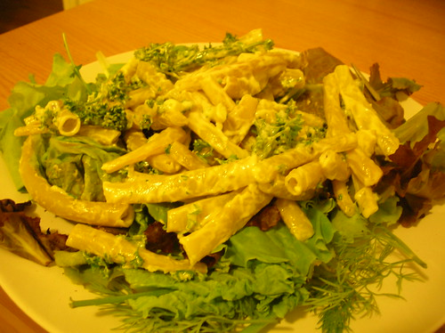 wax beans, garlic mayo, salad greens