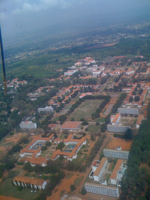 view of university of ghana campus  legon