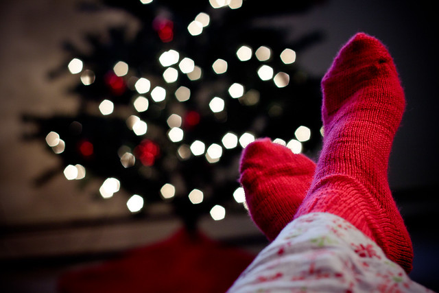 #ds385 - Red Wool Socks