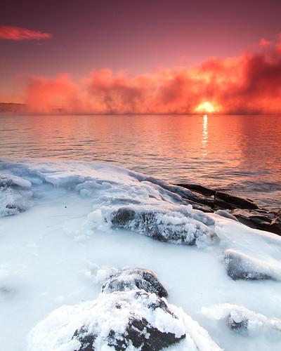 sun ice water oslo clouds sunrise tokina1224f4 frostsmoke cokingradfilter