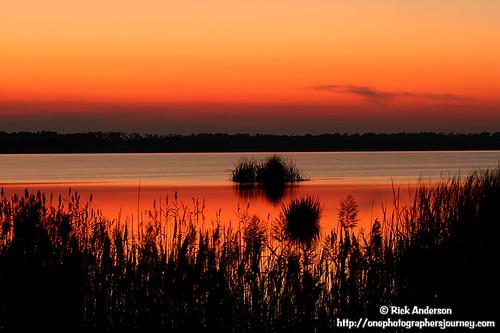 travel sunset usa lake nature water landscape landscapes nc lakes northcarolina carolina wildliferefuge rickanderson coastalnc lakemattamuskeet northcarolinalandscape nctourism visitnc rickandersonphotography