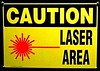 Caution - Laser Area 2 by The Physics Classroom