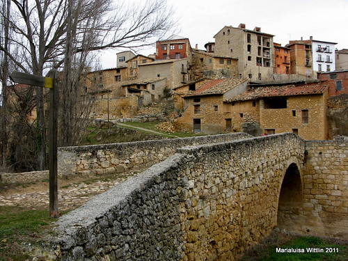 medieval bridge at Torre de Arcas