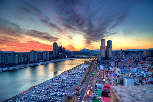 rooftop asia korea hdr ulsan eveninglights urbanex 울산 rooftopping 성남동