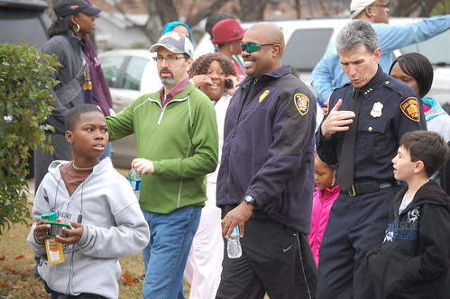 SAPD Chief William McManus and Fire Chief Hood in 2011 MLK March