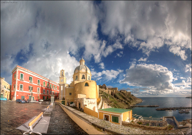 Panoramic Procida from the Piazza dei Martiri