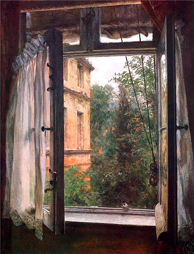 Menzel, Adolf (1815-1905) - 1867 View from a Window in the Marienstrasse (Oskar Reinhart Collection, Winterhur, Switzerland)