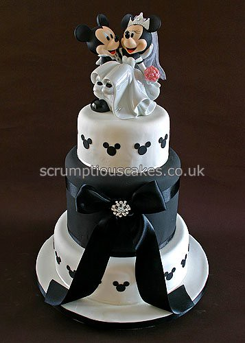 Wedding Cake 698 Mickey Minnie by Scrumptious Cakes PaulaJane