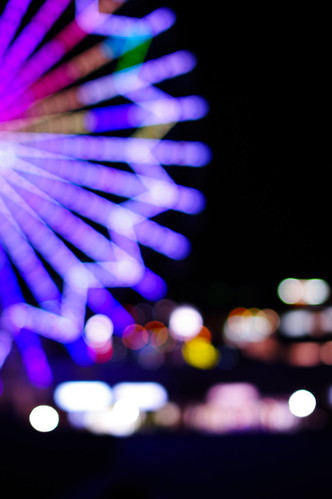 wheel night dof view bokeh magenta ferris 日本 夜景 観覧車 大分 ボケ パークプレイス大分 マジェンタ ferris・wheel