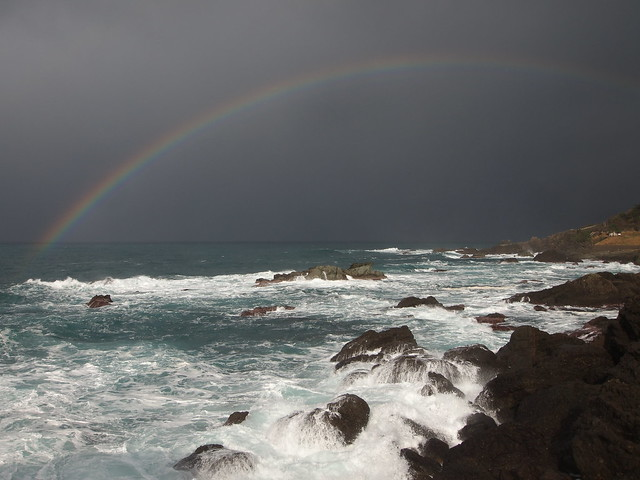Rainbow of sea