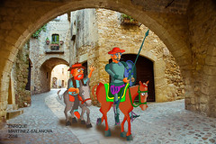 Don Quijote y Sancho entran en barcelona