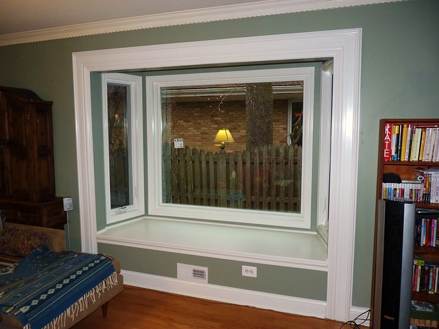 Finished bay window interior flickr photo sharing for Bay window interior