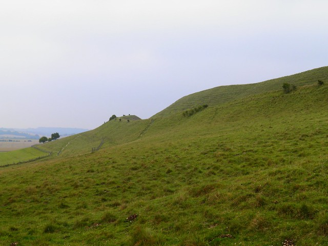 View to Maiden Castle from the western entrance, Maiden Castle, Dorset