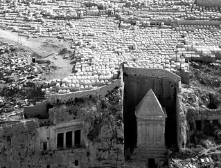 The  rock-cut tombs of ZECHARIAH and  BENEI HEZIR
