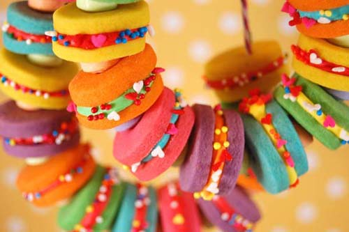 Rainbow Cookie Necklaces