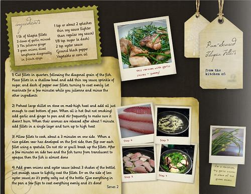 Mixbook Cookbook模板布局