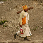 A Sadhu Walking Home - Annapurna Circuit, Nepal