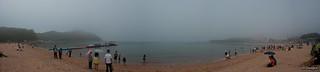 Bild av 을왕리해수욕장(Eulwangri Beach). panorama beach fog 안개 해수욕장 sal1680z 파노라마 을왕리해수욕장 sonyα350 eurwangnibeach