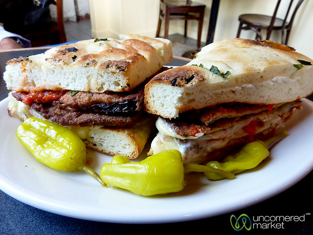 Grilled Eggplant and Chilcken Sandwiches - San Franciso, PA