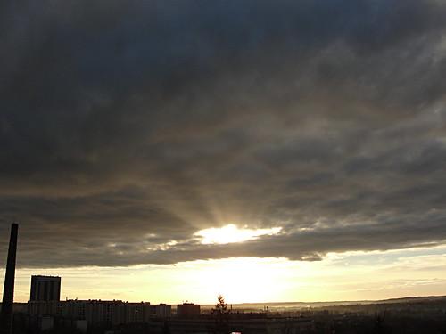 city cloud sunrise felhő város hajnal