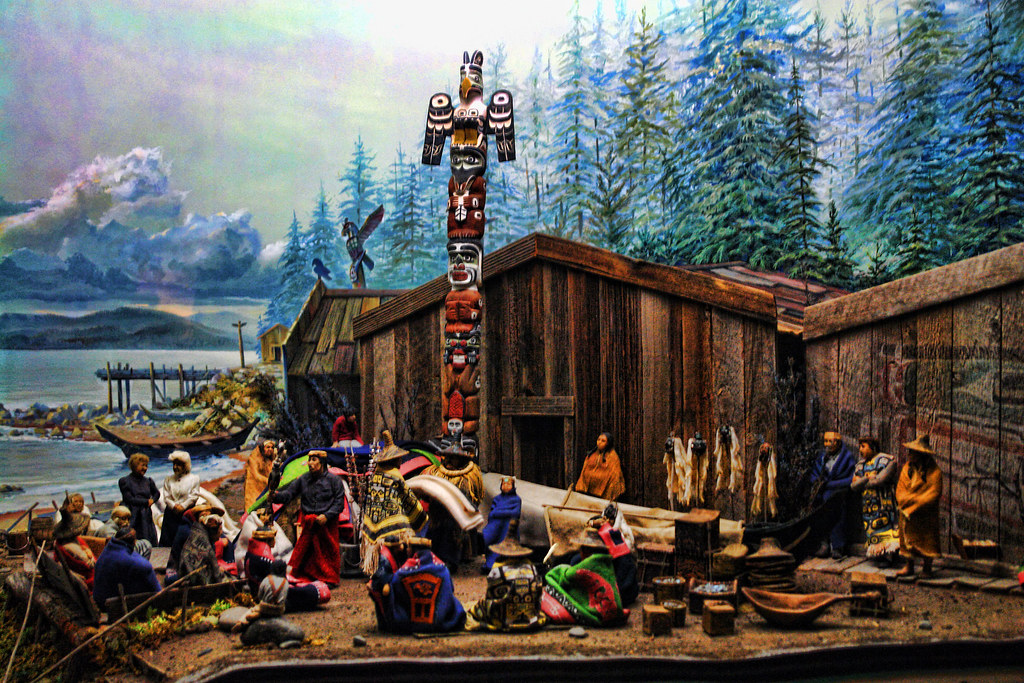 On White: Kwakiutl Indian diorama by Clever Poet [Large]