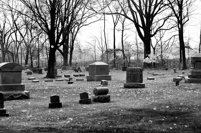 graveyard bw