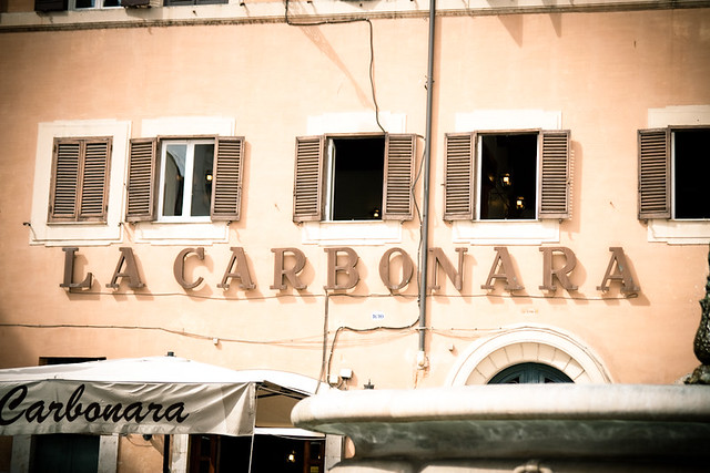 Campo Di Fiori // La Carbonara Sign