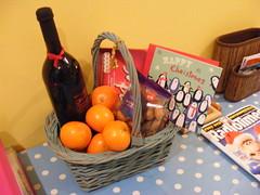 produce, food, gift basket, basket,