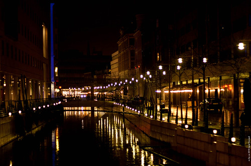 Night streets of Århus