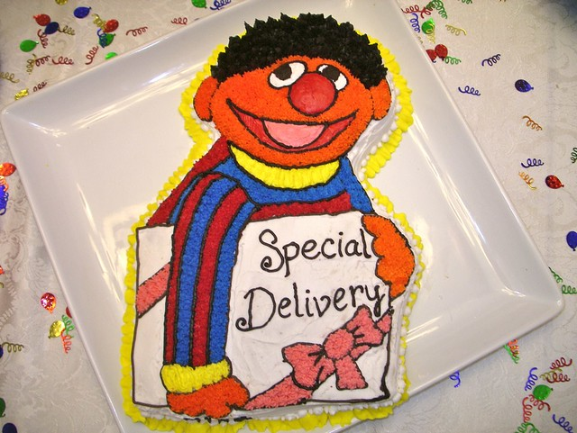 ernie cake at sesame street baby shower 1 15 flickr photo sharing