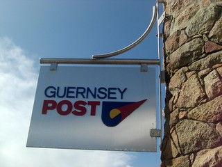 Post Office Sign Cobo Bay Guernsey